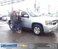 #HappyAnniversary to Joey Glass on your 2013 #Chevrolet #Tahoe from Matt Madewell at Lake Country Chevrolet Cadillac!