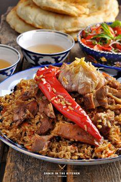 Ингредиенты: Рис «Девзира» - 700 гр. Баранина – 1 кг. Курдюк – 150 гр. Морковь – 600 гр. Лук – 3 шт. Барбарис сушёный – 20 гр. Соль, перец – по вкусу Зира…