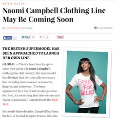 MISSION: Is Naomi Campbell launching her own line? #fashion #style #models http://thechicspy.com/index.php/naomi-campbell-clothing-line
