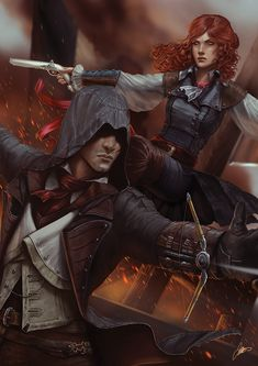 CyberWolf, Assassin's Creed Unity Created by Jodie. Assassins Creed Unity, Assassins Creed Series, The Assassin, Asesins Creed, All Assassin's Creed, Assassin's Creed Black, Arno Dorian, Third Person Shooter, Fantasy Couples