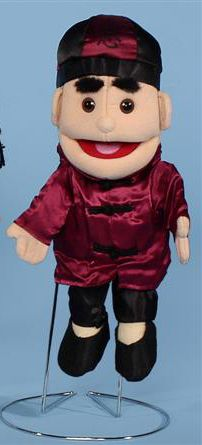 The quality of the clothing we use on this boy will amaze you. The boy puppet is wearing a silk maroon shirt with black silk pants. People Puppets, Types Of Puppets, Glove Puppets, Maroon Shirts, Chinese Symbols, Silk Pants, Twin Sisters, Asian Boys, Black Silk