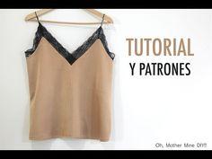 DIY Costura: cómo hacer camiseta lencera (patrones gratis) | Manualidades