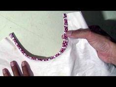 cara menjahit bisban pada kerung leher baju - YouTube Sewing Tutorials, Sewing Projects, Sewing Patterns, Tutorial Sewing, Pola Rok, Kebaya Brokat, Womens Fashion, Desi, Shirts