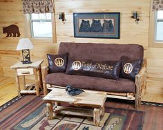 Twist of Nature's Full Size Log Futon - Great Package deals available!
