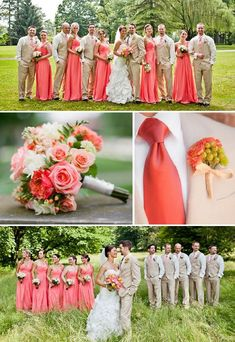 Choosing the wedding color theme for one's wedding can be both an exciting but extremely daunting task. Coral Wedding Colors, Summer Wedding Colors, Wedding Color Schemes, Spring Wedding, Summer Weddings, Blue Coral Weddings, Salmon Color Wedding, Orange Weddings, Summer Flowers
