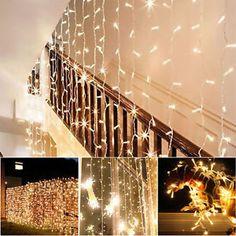 10-20-30M-LED-Lichterkette-Weihnachtsparty-Lichtervorhang-Lichternetz-Garten-Neu