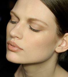 Model at Alberta Ferreti AW12! Love the simplicity! perfection!