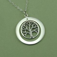Sterling Circle of Life Tree Necklace  silver tree by TheZenMuse, $48.00
