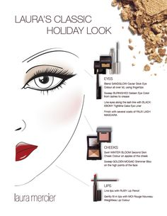 A classic holiday #makeup look from the Laura Mercier artistry team.