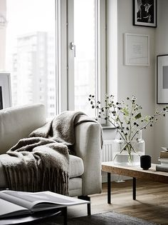 Scandinavian Style Living Room (Scandinavian Style Living Room) design ideas and photos Home Design Living Room, Cottage Living Rooms, Small Living Rooms, My Living Room, Interior Design Living Room, Living Room Decor, Modern Living, Apartment Interior, Home Interior