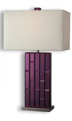 Dimond Lighting Avalon One Light Table Lamp in Purple Mirror and Black Nickel Purple Bedroom Accents, Purple Bedrooms, Mirrored Accent Table, Purple Mirror, Purple Interior, Decoration Inspiration, Decor Ideas, All Things Purple, Purple Stuff