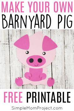 Easy DiY Pig Craft Activity for Preschool Kids - Simple Mom Project Farm Animal Crafts, Pig Crafts, Farm Crafts, Animal Crafts For Kids, Crafts For Kids To Make, Toddler Crafts, Farm Animals, Paper Crafts, Craft Activities