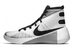 89d13b7d74c0 Nike Hyperdunk 2015 White   Metallic Silver White Nike Basketball Shoes