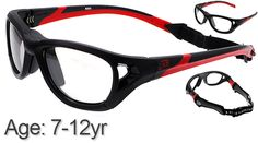 ff9e26c9232  7-12 yrs  Rec Specs Sport Shift Sports Glasses   Goggles ASTM  Black Red -  52 Size