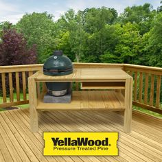 "On my way to becoming a Backyard Boss and hopefully a Big Green Egg! ""Like"" YellaWood® brand products on Facebook for your chance to win!"