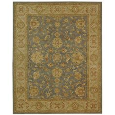 FAMILY ROOM OR KITCHEN, overstock, Safavieh Handmade Antiquities Jewel Grey Blue/ Beige Wool Rug (12' x 18')