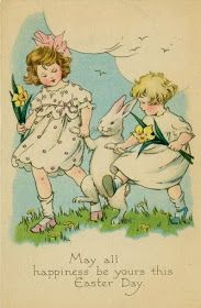 Carte ancienne de Paques vintage easter card much more there Easter Art, Hoppy Easter, Easter Bunny, Easter Ideas, Easter Decor, Easter Eggs, Easter Vintage, Vintage Holiday, Vintage Greeting Cards