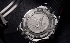 TAG HEUER Aquaracer 500M Chronograph with engraved Oracle Racing AC45