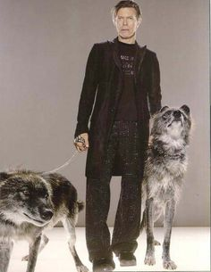 "bowiepills: ""Bowie with wolves - requested by Anonymous """