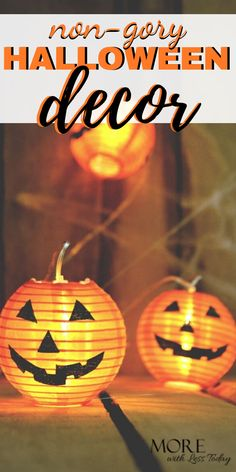 Celebrate Halloween without all the gore with this non gory Halloween decor.