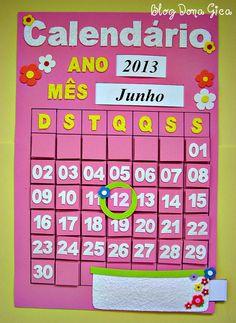 Mais um pedido da Professora Luana. Ficou muito lindinho esse calendário. Adorei confeccionar! Obrigada Professora Luana pelo pedido! ...