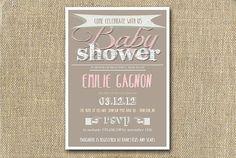 Rustic Chalk Baby Shower Digital Invitation On Etsy #babyshower #invitation