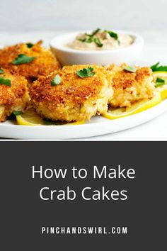 In this Easy Crab Cake recipe, I'll show you exactly how easy it is to make delicious lump crab cakes! They're made with just a few simple ingredients - the absolute best crab cakes because they're made with lump crab and actually TASTE like crab, not breading. I love to fry them in a mixture of oil and butter because butter and crab are made for each other! Cooking For One, Country Cooking, Crab Cakes Recipe Best, Easy Dinner Recipes, Appetizer Recipes, Cakes Without Butter, Healthiest Seafood, Southern Recipes, Soul Food