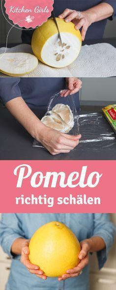 So geht Pomelo schälen ganz einfach.