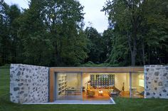 Living Room, Robert C. Wiley House Originally Designed by Philip Johnson