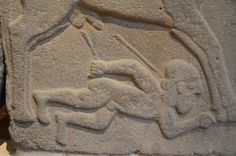 Relief from the citadel gate of Zincerli (Sam'al), Late Hittite Period, 9th cent. BCE