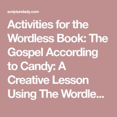 Teaching the Gospel Message Using the Wordless Book Colors | Sunday ...