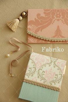 ほぼ日手帳カバーとふくさのオーダーの画像:Fabrikoのカルトナージュと布小物