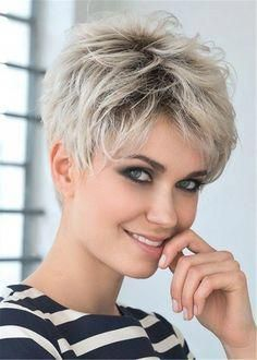 Short Shag Hairstyles, Short Pixie Haircuts, Short Hairstyles For Women, Straight Hairstyles, Short Hair Cuts For Women Pixie, Hairstyle Short, Short Grey Hair, Short Hair With Layers, Short Blonde