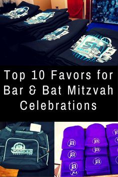 Bar Mitzvah and Bat Mitzvah Favors are an important way to thank your guests and remember the celebration for years to come! Check out this summary of some of the most popular favors to get ideas. Bar Mitzvah Favors, Bar Mitzvah Themes, Bar Mitzvah Party, Bat Mitzvah Invitations, Birthday Invitations Kids, Bar Mitzvah Decorations, Party Invitations, Invitation Cards, Room Decorations