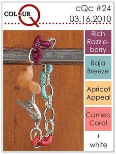 Berry Teal and Coral Bracelet: I love these colors together, but I wouldn't have thought of it myself. So cool!