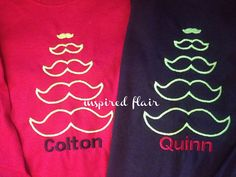 Personalized Children's Mustache Christmas by InspiredFlair, $25.00