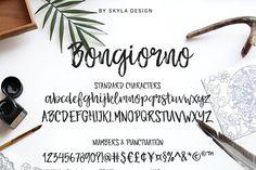 Brush marker font - Bongiorno - Script