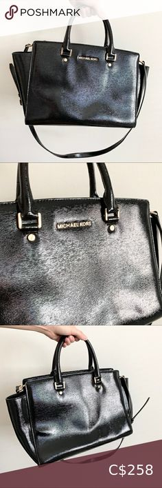 I just added this listing on Poshmark: Michael Kors Selma Glossy Patent Leather Satchel. #shopmycloset #poshmark #fashion #shopping #style #forsale #Michael Kors #Handbags Michael Kors Fall, Michael Kors Satchel, Michael Kors Selma, Handbags Michael Kors, Black Leather Ankle Boots, Black Leather Bags, Patent Leather, Brown Leather Satchel, Mk Purse