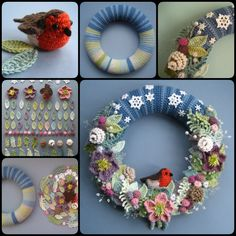 How to Crochet Beautiful Wreath