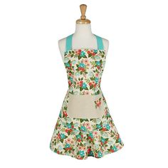 In Bloom Spring Ruffled Apron // www.designimports.com