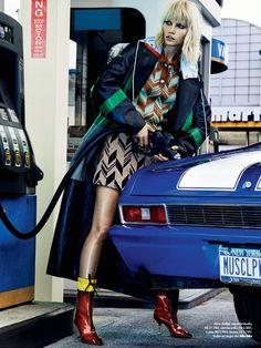 Vogue Brazil September 2014   Aline Weber by Giampaolo Sgura   Miu Miu Fall 2014
