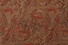 Fabric by the Yard :: Robert Allen Patna Paisley Tapestry Upholstery Fabric in Spice $17.95 per yard - Fabric Guru.com: Fabric, Discount Fabric, Upholstery Fabric, Drapery Fabric, Fabric Remnants, wholesale fabric, fabrics, fabricguru, fabricguru.com, Waverly, P. Kaufmann, Schumacher, Robert Allen, Bloomcraft, Laura Ashley, Kravet, Greeff
