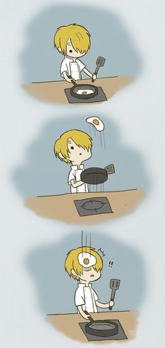 Sanji appears to have trouble with eggs.