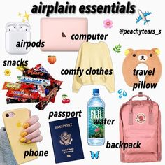 travel essentials for kids ~ travel essentials ; travel essentials for women ; travel essentials carry on ; travel essentials for teenagers ; travel essentials for kids Airplane Essentials, Travel Bag Essentials, Road Trip Essentials, Beauty Essentials, Summer Essentials, Vsco Essentials, Beauty Hacks, Travel Packing Checklist, Road Trip Packing