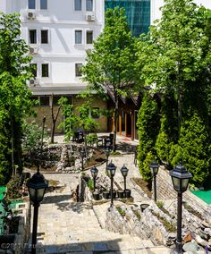 """https://flic.kr/p/srtYgP   Hotel Afa Courtyard Stairs - Pristina, Kosovo   All Images © 2015 Paul Diming - All Rights Reserved - Unauthorized Use Prohibited.  Please visit <a href=""""http://www.pauldiming.com"""" rel=""""nofollow"""">www.pauldiming.com</a>!"""