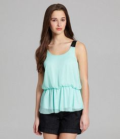 Love this color and top! Available at Dillards.com #Dillards