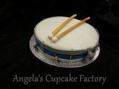 Drum Cake for Rafi's 12th birthday Taart in de vorm van een trom voor de 12e verjaardag van Rafi