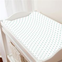 Mint Hearts Changing Pad Cover made with care in the USA by Carousel Designs. Mint Nursery, Free Fabric Swatches, Carousel Designs, Baby Crib Bedding, Changing Pad, Repeating Patterns, Grey And White, Cribs, Mattress