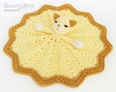 Kitty Cat Lovey CROCHET PATTERN instant download  blankey