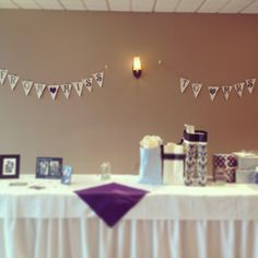 Bridal shower banner from miss to mrs